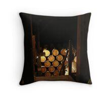Wine Barrels Throw Pillow