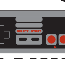 Gamer Nintendo Classically Trained Joystick Sticker