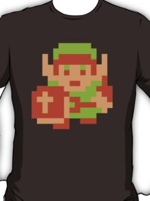 Gamer Zelda Link Pixel Art T-Shirt