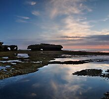 Peninsula Sunset Pan by Robert Mullner