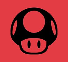 Super Mario Bros. Symbol - Super Smash Bros. (black) by hopperograss