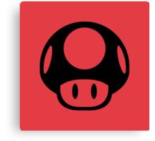 Super Mario Bros. Symbol - Super Smash Bros. (black) Canvas Print