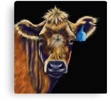Lucky Number Seven Cow Painting Canvas Print