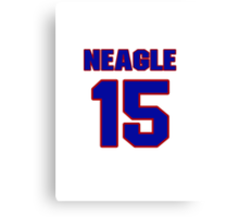 National baseball player Denny Neagle jersey 15 Canvas Print