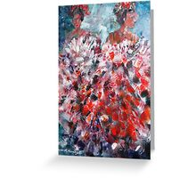 Cancan Dancers - Dance Art Gallery Greeting Card