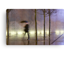 Passage of time in a concrete jungle  Canvas Print