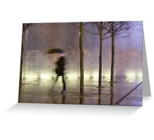 Passage of time in a concrete jungle  Greeting Card