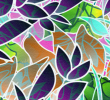 Floral Abstract Artwork Sticker