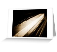 Sepia Piano Keyboard Greeting Card