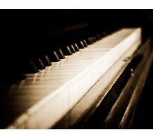 Sepia Piano Keyboard Photographic Print