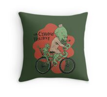 Mr. Cthulhu's Holiday Throw Pillow