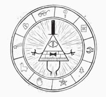 Gravity Falls Bill Cipher - Black on White by TumblrVerse