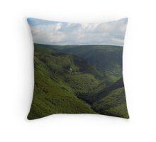Deep Valley Throw Pillow