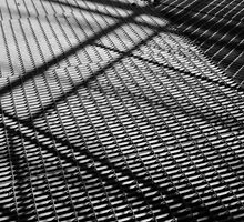 Steel construction - Black and white photograph by KerstinB