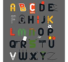 Pop culture alphabet Photographic Print