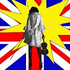 Pop Art Violin by debsrockine