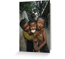 3 friends  Greeting Card