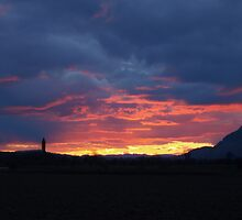 Sunset Over Wallace  by Alan Findlater