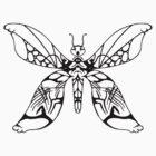 tribal butterfly 2 by Dalton Sayre