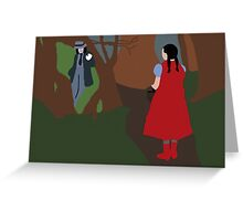 Little Red Riding Hood And the Wolf (INTO THE WOODS)  Greeting Card