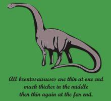 Brontesaurus Theory - Dinosaur Funny Tshirt by troyw