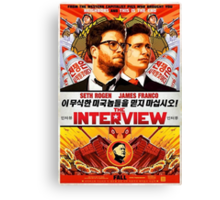 The Interview Poster Canvas Print