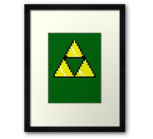 8 Bit Triforce pixel Framed Print
