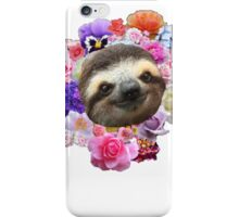 Floral Sloth iPhone Case/Skin