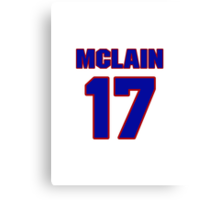 National baseball player Denny McLain jersey 17 Canvas Print