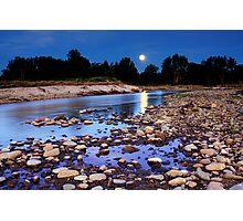 Moonrise over Yarramundi Australia Photographic Print