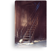 Roof Access Stairs (Armstrong Cork Factory) Canvas Print