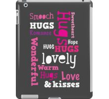 HUGS WONDERFUL SMOOCH Romance all words in a rectangle iPad Case/Skin