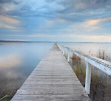 Long Jetty serenity - Australia seascape landscape by Leah-Anne Thompson