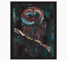 blue owl for a black shirt Kids Clothes