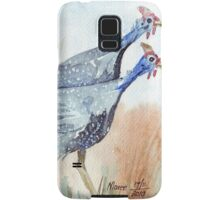 Guinea fowl in my garden Samsung Galaxy Case/Skin