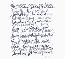 Handwritten (light shirt) by Ronald Wigman