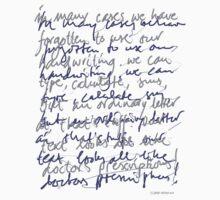 Handwritten (light shirt) by Ronald Wigman