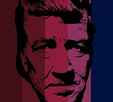 David Lynch in stripy background! by burrotees