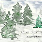 White Christmas winter forest greeting by Shellibean1162