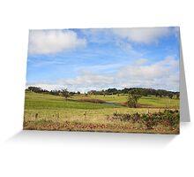 Australian Countryside, Cambewarra NSW  Australia landscape Greeting Card