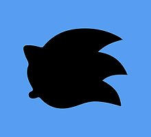 Sonic the Hedgehog Symbol - Super Smash Bros. (black) by hopperograss