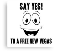 Fallout Yes Man Free New Vegas Canvas Print
