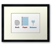 Rock, paper and scissors. Framed Print