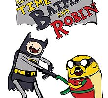 Adventure Time with Batman and Robin by Alyssa Brensinger