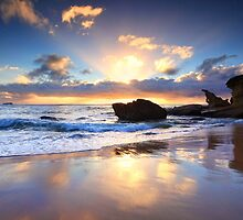 Beach sunrise at Noraville NSW Australia seascape landscape by Leah-Anne Thompson