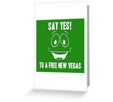 Fallout Yes Man Free New Vegas Greeting Card