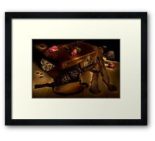 The hasty farewell Framed Print
