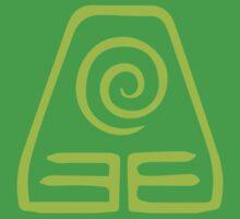 Earthbending Symbol (light) by hopperograss