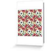 Watercolor Modern Floral Pattern Greeting Card