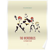 The Incredibles: The Super Family (Vintage) Poster